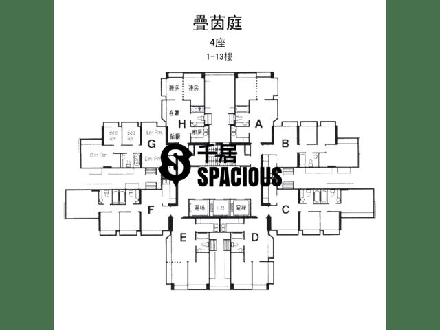 屯门 - 叠茵庭 平面图 04