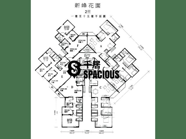 大埔 - 新峰花园 平面图 01