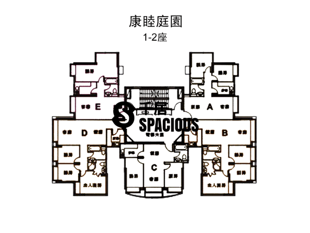 Tsuen Wan - HARMONY GARDEN BLOCK 1 Floor Plan 01