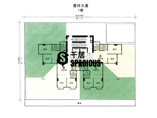 To Kwa Wan - Hing Cheung Building Floor Plan 02