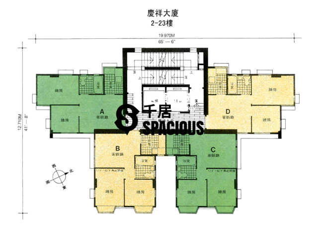 To Kwa Wan - Hing Cheung Building Floor Plan 01