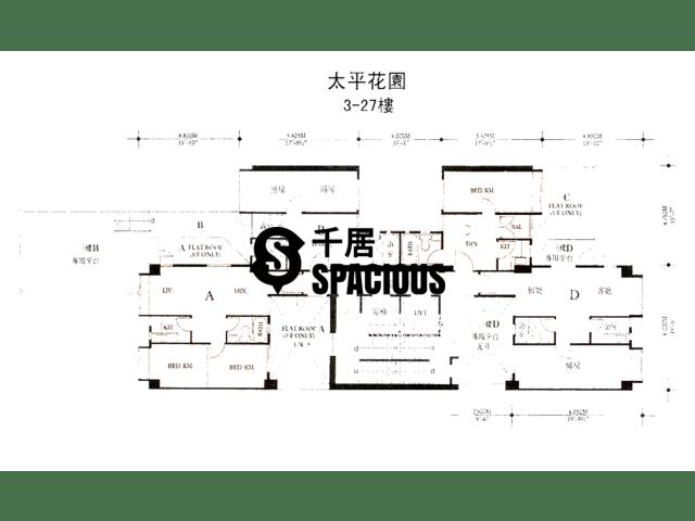 Ho Man Tin - Peace Garden Floor Plan 01