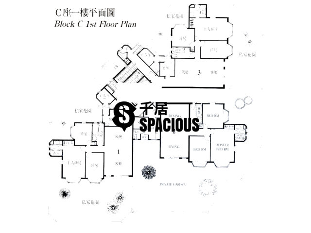 Gold Coast / So Kwun Wat - SPRING SEAVIEW TERRACE Floor Plan 01