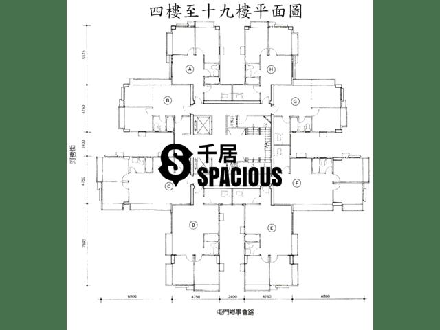 屯门 - 康丽花园 平面图 02
