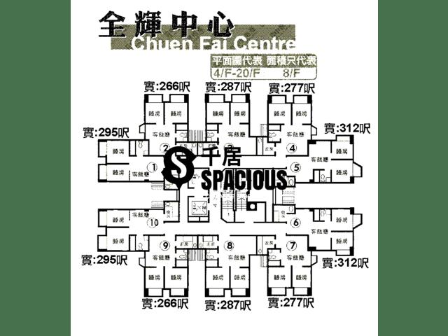 Sha Tin - CHUEN FAI CENTRE Floor Plan 02