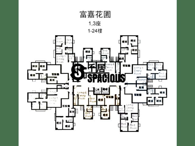 Tai Wai - GRANDWAY GARDEN Floor Plan 01
