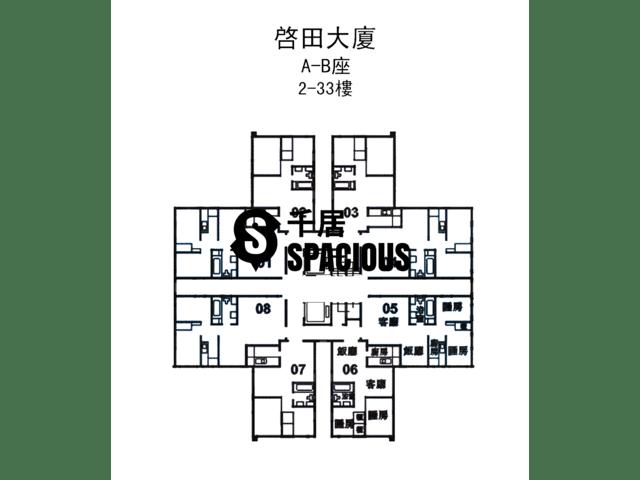Lam Tin - Kai Tin Tower Floor Plan 01