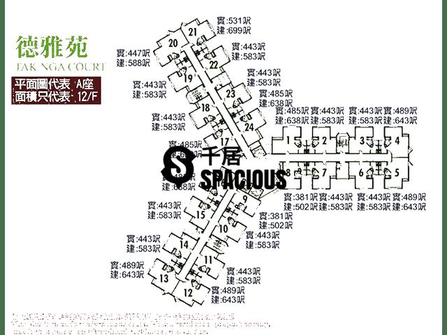 大埔 - 德雅苑 平面图 01