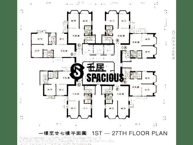 沙田 - 沙田中心 平面图 10