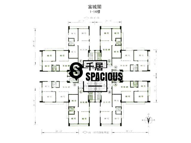 Chai Wan - Fu Shing Court Floor Plan 01