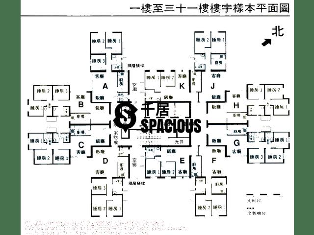 Chai Wan - Lok Hin Terrace Floor Plan 01