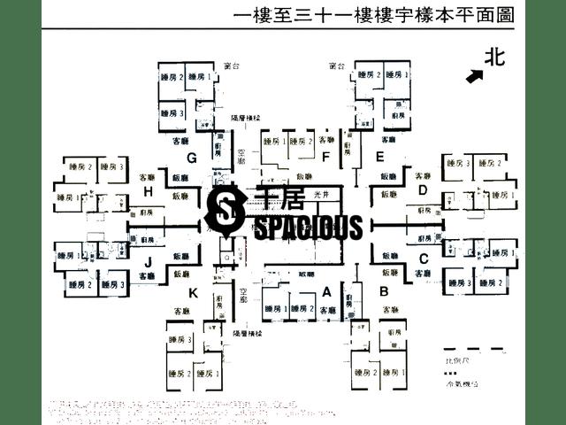 Chai Wan - Lok Hin Terrace Floor Plan 02