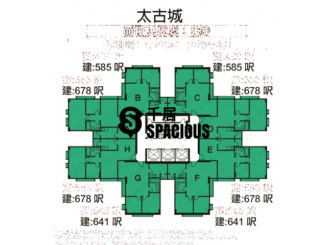 Tai Koo Shing - Taikoo Shing - Choi Tien Mansion Floor Plan 89