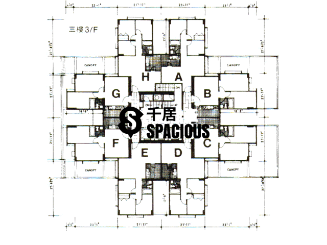 Tai Koo Shing - Taikoo Shing - Choi Tien Mansion Floor Plan 26