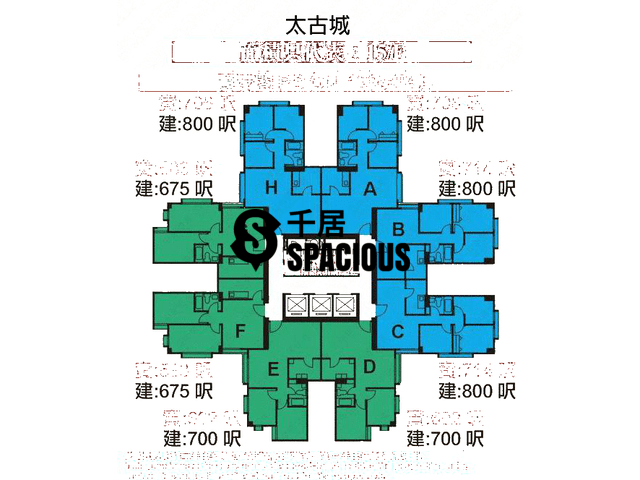 Tai Koo Shing - Taikoo Shing - Choi Tien Mansion Floor Plan 20