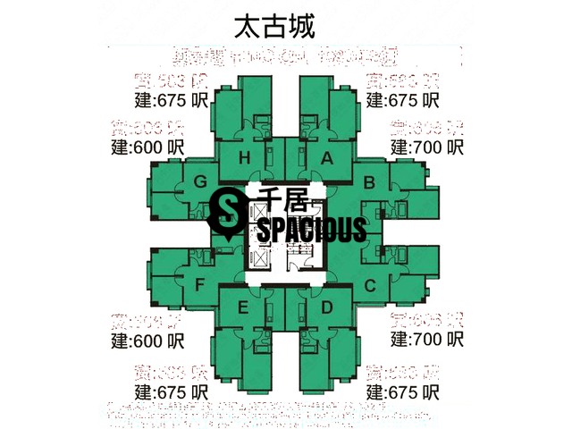 Tai Koo Shing - Taikoo Shing - Choi Tien Mansion Floor Plan 115