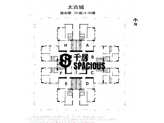 Tai Koo Shing - Taikoo Shing - Choi Tien Mansion Floor Plan 48