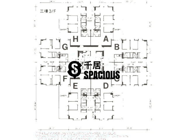 Tai Koo Shing - Taikoo Shing - Choi Tien Mansion Floor Plan 34