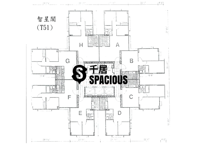 Tai Koo Shing - Taikoo Shing - Choi Tien Mansion Floor Plan 59