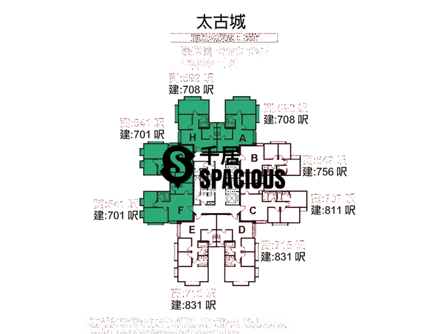 Tai Koo Shing - Taikoo Shing - Choi Tien Mansion Floor Plan 52