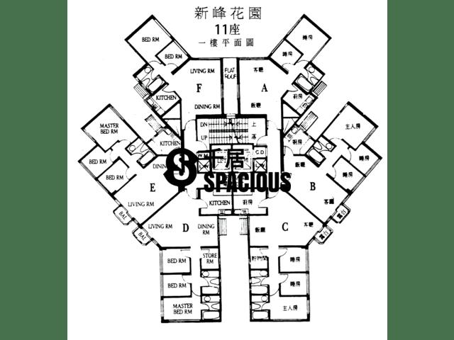 大埔 - 新峰花园 平面图 12