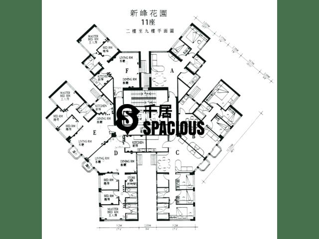 大埔 - 新峰花园 平面图 13