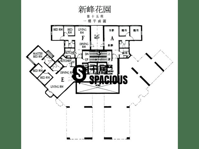 大埔 - 新峰花园 平面图 15