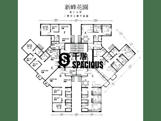 大埔 - 新峰花园 平面图 16